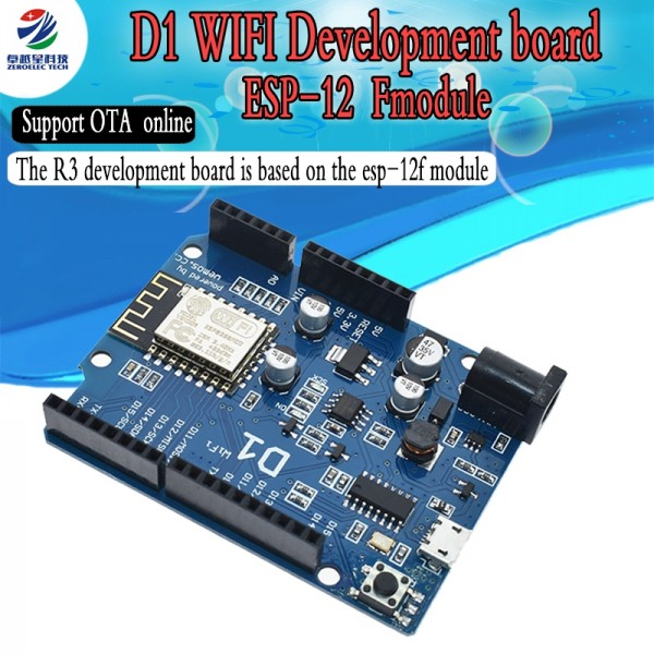 ESP-12E D1 WiFi uno based ESP8266 shield for arduino