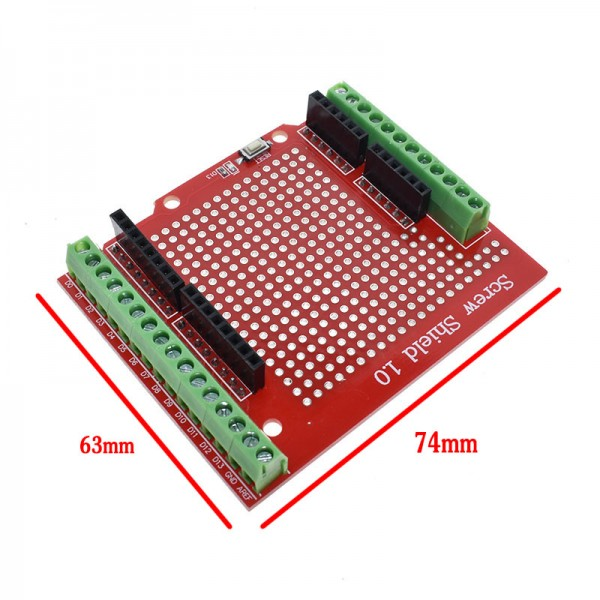 Standard Proto Screw Shield Assembled Prototype Terminal Expansion Board for Arduino Opening Source Reset Button