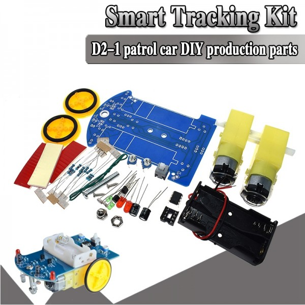 D2-1 DIY Kit Intelligent Tracking Line Smart Car Kit TT Motor Smart Patrol Automobile Parts DIY Electronic