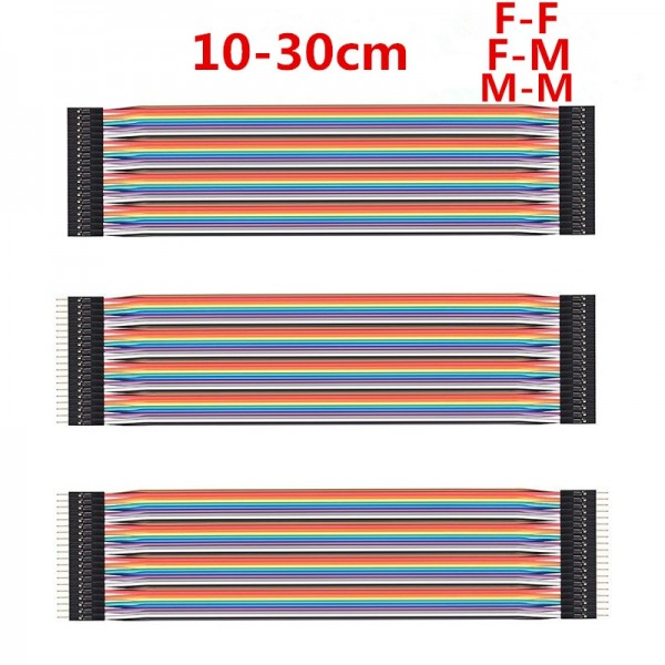 40 pin Dupont Line 10cm 20cm 30cm Male to Male Female to Male and Female to Female Jumper Wire Connector Dupont Cables for Breadboard