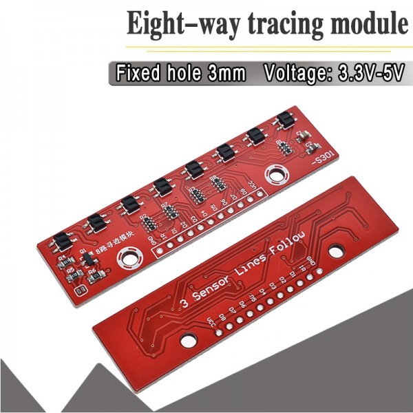 Eight way Tracking Module Infrared Detection Sensor Module For Arduino