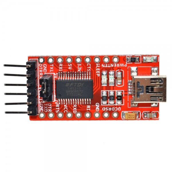 FT232RL FTDI USB 3.3V 5.5V to TTL Serial Adapter Module for Arduino FT232 Mini Port