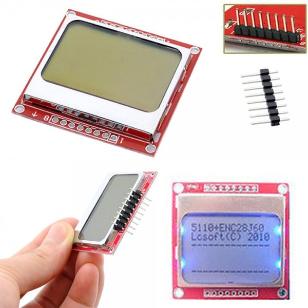LCD Module Display Monitor White backlight adapter PCB 84*48 84x84 Nokia 5110 Screen for Arduino