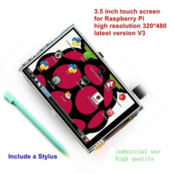 3.5 inch Raspberry Pi LCD TFT Touchscreen Display Touch Shield Raspberry pi 2 Model B LCD Touch Screen and Stylus