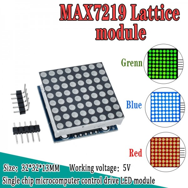 MAX7219 dot matrix module microcontroller module display module finished goods for arduino programming