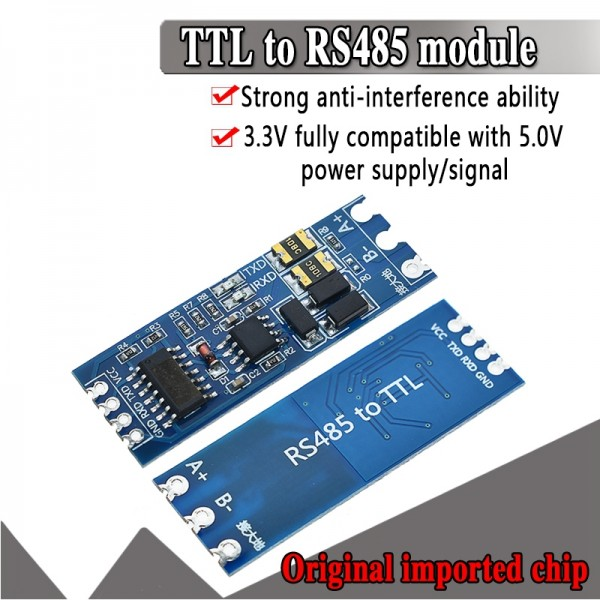 RS485 to TTL Module Hardware Automatic Flow Control Module Serial UART Level Mutual Conversion Power Supply Module 3.3V 5V