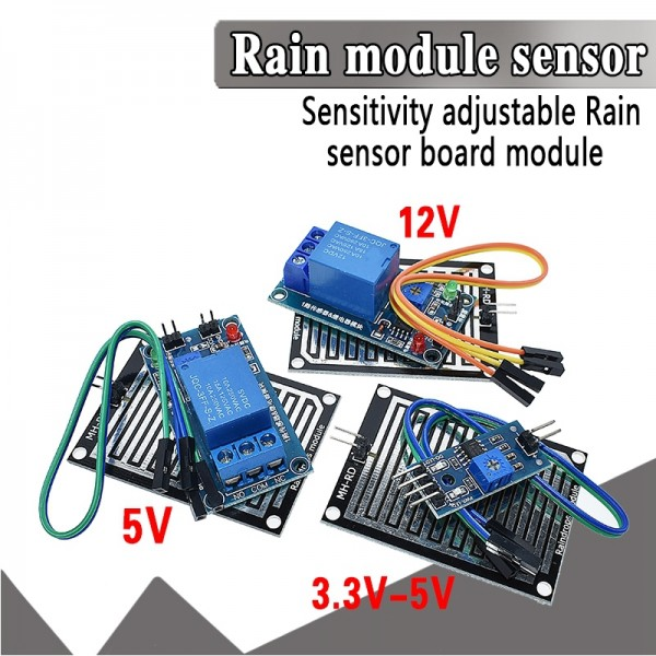 Snow Raindrops Detection Sensor Module For Arduino with Relay Control