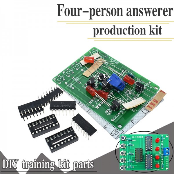 4 Channel Answering Teaching Practice Welding PCB Board Fun Electronic DIY Parts laboratory
