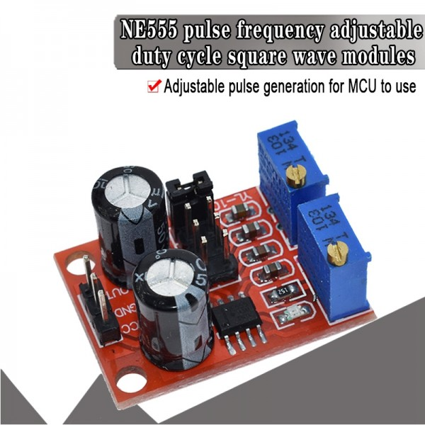 pulse frequency duty cycle adjustable NE555  module square (rectangular) wave signal generator step motor driver