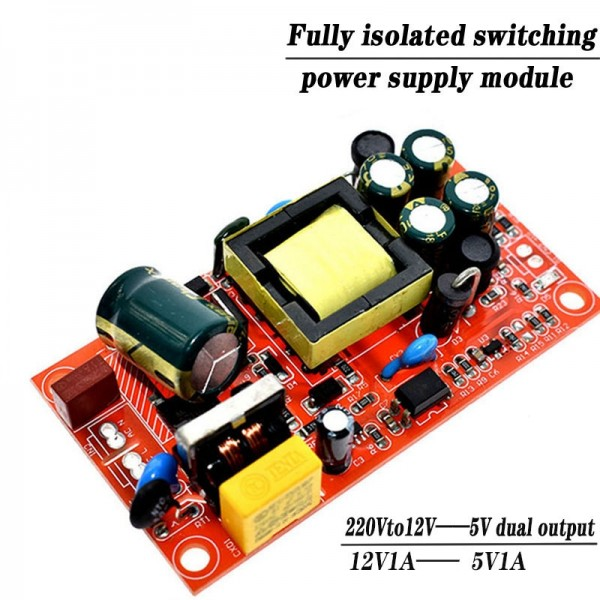 12V 1A 5V1A fully isolated switching power supply module  220V turn 12V 5V dual output  AC-DC module