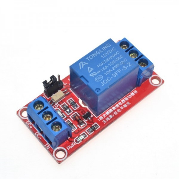 1 Channel 12V Relay Module Board Shield with Optocoupler Support High and Low Level Trigger for Arduino