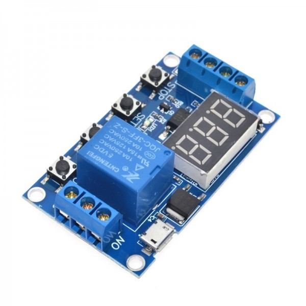 1 Channel 5V Relay Module Time Delay Relay Module Trigger OFF / ON Switch Timing Cycle 999 minutes for Arduino