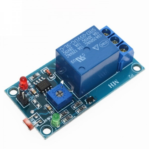 5V 12V Light Photoswitch Sensor Switch Relay Module Light Detection Photosensitive Sensor Board