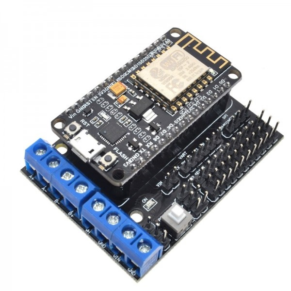 Node MCU Development Kit NodeMCU + Motor Shield Esp Wifi Esp8266 Esp-12e diy rc toy remote control Lua IoT smart car Esp12e